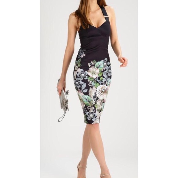 b909f4b56a0b42 NWT Ted Baker Jayer Gem Gardens Body Con Dress